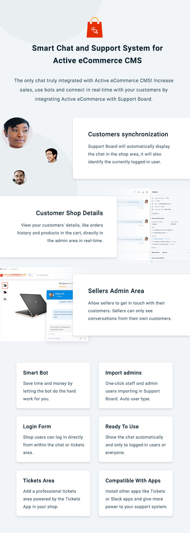 Active eCommerce Chat & Support App for Support Board - 3