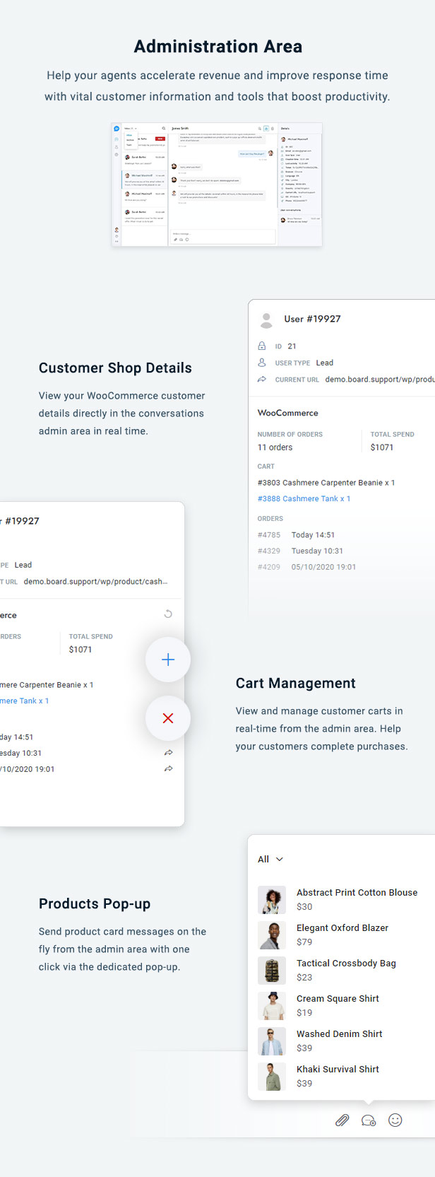 WooCommerce Chat Bot & Marketing App for Support Board - 5