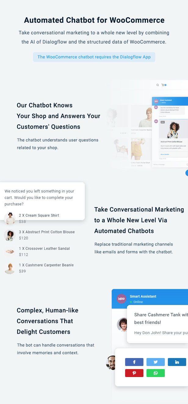 WooCommerce Chat Bot & Marketing App for Support Board - 6