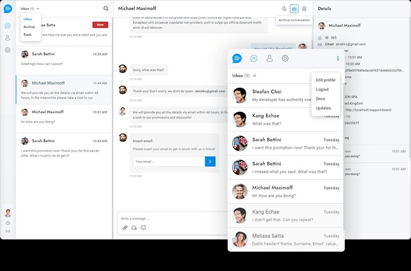 Support Board v3.1.0-WordPress在线聊天/即时通讯插件插图4