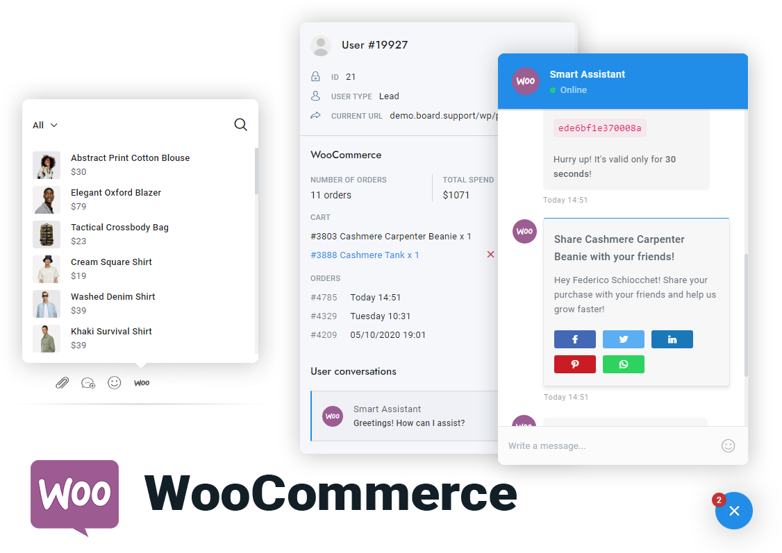 WooCommerce Marketing Chat