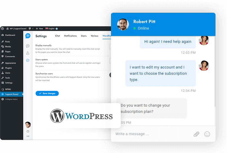 WordPress chat
